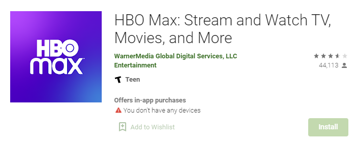 HBO Max for Laptop PC