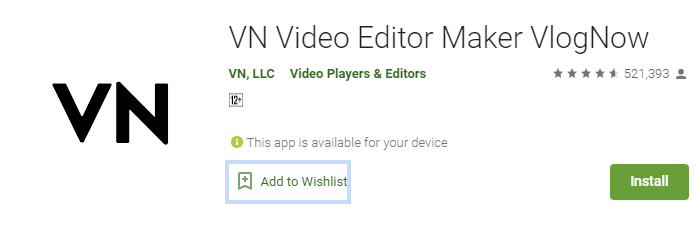 VN Video Editor for Mac PC